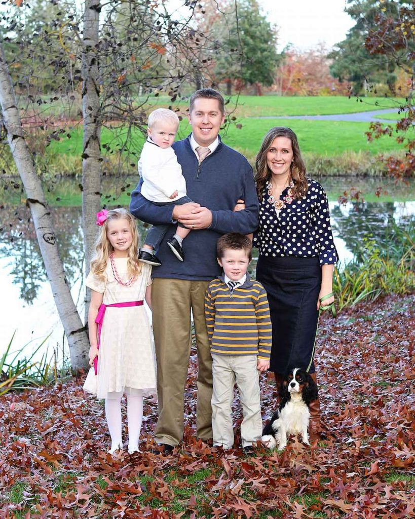 Hillsboro dentist Dr. Kolts and family