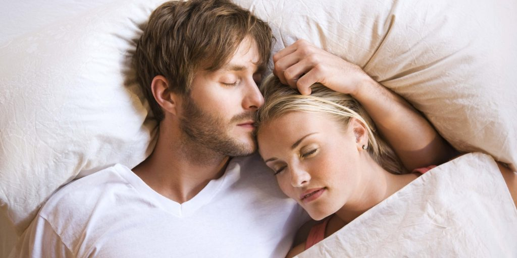 Man and Woman Sleep Soundly with TMJ Splint Therapy from Hillsboro Dental Excellence