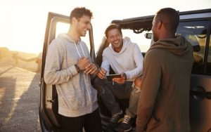 Young Men with Whiter Teeth from Zoom Whitening at Hillsboro Dental Excellence