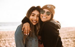 Friends on the Beach with 3D Perfect 3D Printed Dental Veneers from Hillsboro Dental Excellence
