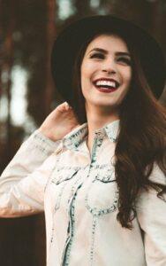 Woman with Beautiful Lumineers Teeth Veneers from Hillsboro Dental Excellence